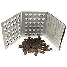 1c Lincoln Wheat Cent Penny Album/Book/Kit & 200 Random Coins Included #53303^