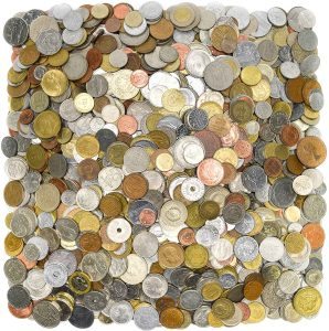 2 lbs of coins on Amazon